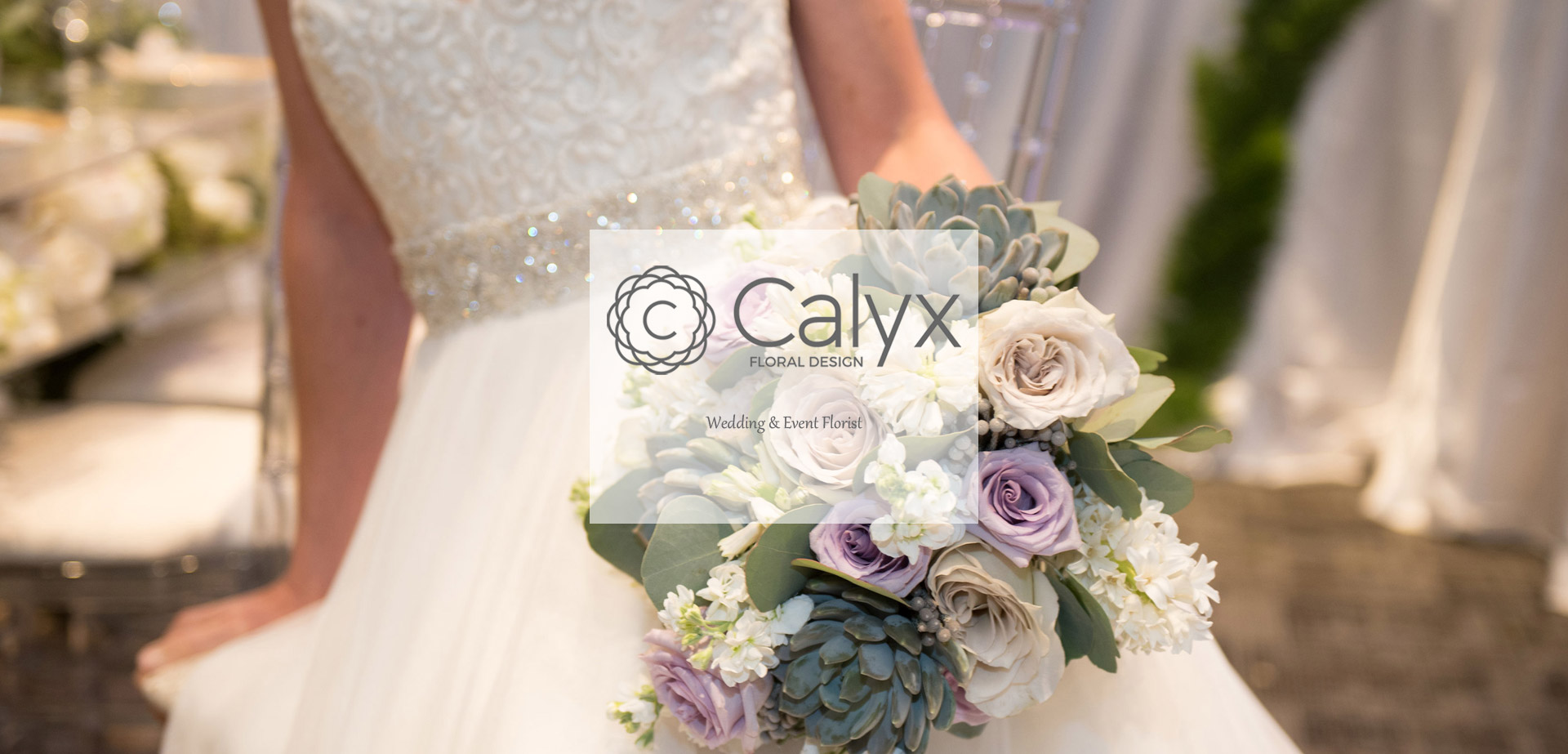 Compact Bridal Bouquet in Grey and Lavender
