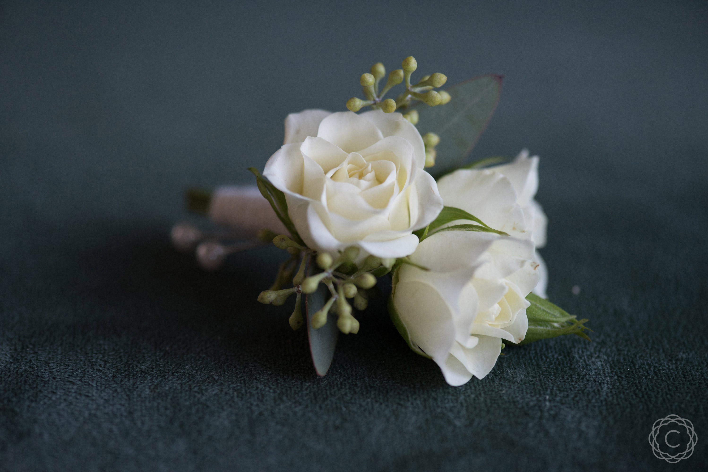Simple White Spray Rose Boutonniere | Calyx Floral DesignWhite Spray Rose Boutonniere