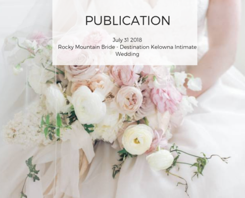 Rocky Mountain bride Publication Calyx Floral Design Kelowna Weddings